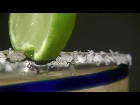 Lime Margarita Glass Rim Salty Rim Shot B-Roll Clip CC Download