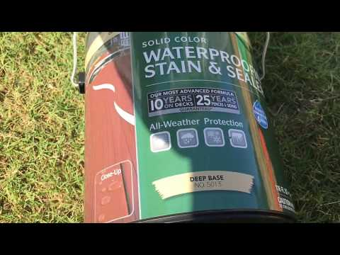 How to stain a deck - BEHR Weatherproofing Stain And Sealer 5011/5013
