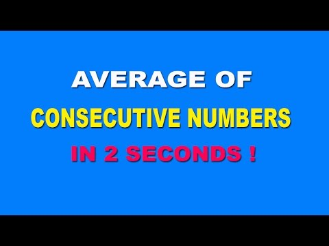 Average Trick: Calulate Average of Consecutive Number in 2 seconds - Hindi