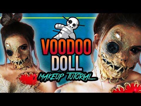 Voodoo Doll Halloween Makeup Tutorial - VOODOO PUPPE - #spooktober