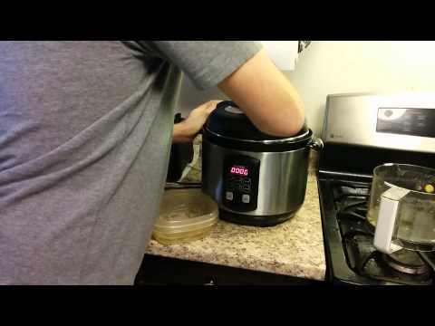 Ham and Cheesy potatos in the pressure cooker