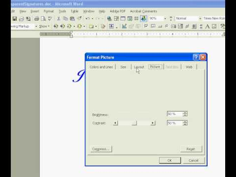 How To Create an Electronic Signature - Transparent Signature Stamp for Adobe Acrobat & MS Word