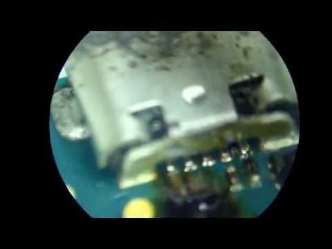reparacion blackberry 9360 no carga , resoldando el conector original