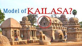Model of Kailasa Temple Found?  Pancha Rathas at Mahabalipuram
