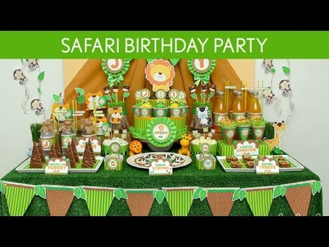 Safari Birthday Party Ideas // Safari - B47