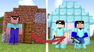 Minecraft: ENSINANDO UM NOOB A CONSTRUIR UMA CASA!