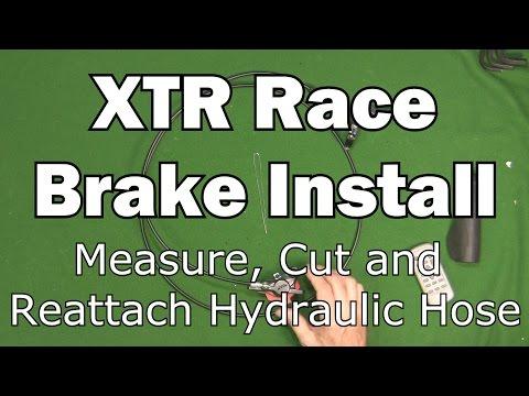 XTR Race Brake Install - Measure Cut Reattach
