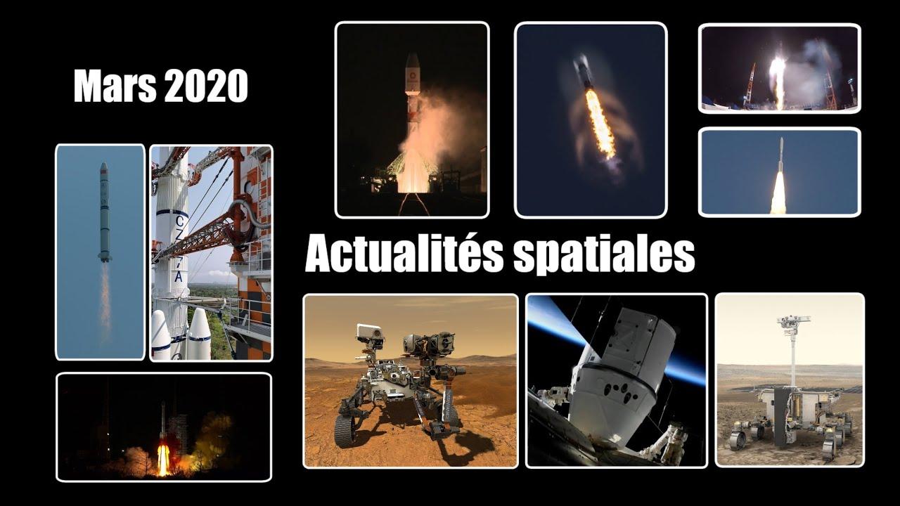 L'actualité spatiale de mars : Exomars, Perseverance, effet du Covid-19 et lancements