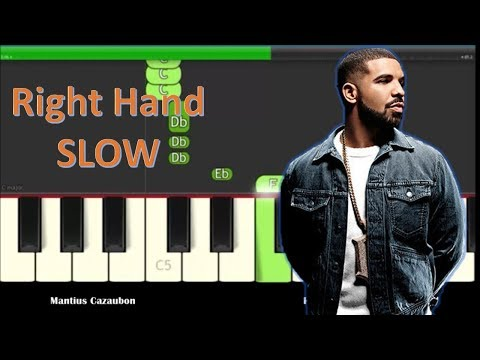 Drake God's Plan Slow Easy Right Hand Piano Tutorial - How To Play