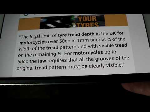 How I check motorcycle tyre tread depth