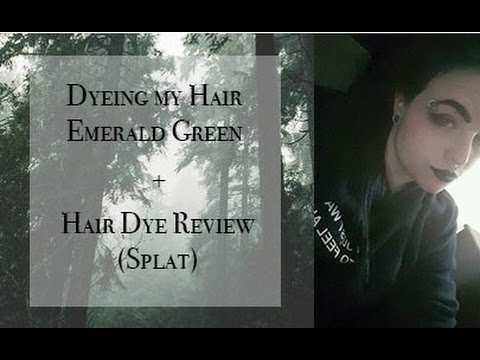 DYEING MY HAIR EMERALD GREEN + HAIR DYE REVIEW
