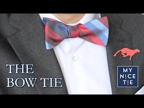 How to Tie a BOW TIE (quick=review) - How to Tie a Tie with a Freestyle Bow (easy)