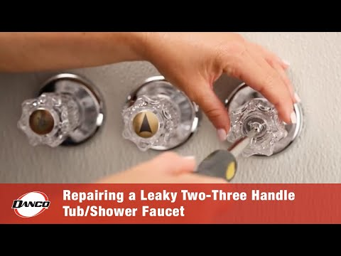 How to Repair a Leaky Two-Three Handle Tub-Shower Faucet