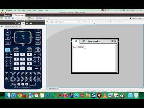 TI Nspire CX   Quadratic Equations
