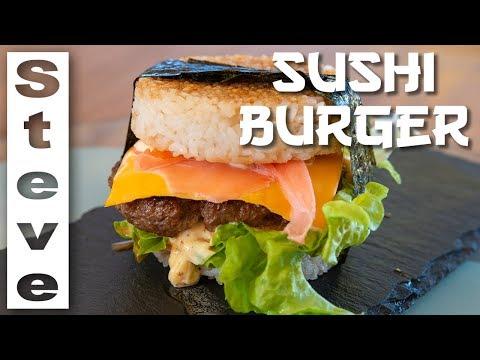 SUSHI BURGER - East Meets West  🇯🇵 🇺🇸