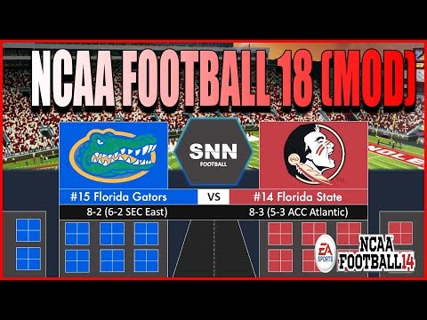 NCAA Football 18!!! (Community Made Mod) Updated ESPN Graphics