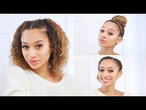 3 Curly Hairstyles For Back To School