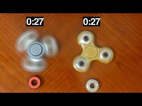 Spin Test : Ceramic Vs Steel ball bearings ( Fidget Spinners )