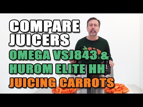 Hurom Elite HH & VSJ843 Juicers Juicing Comparison