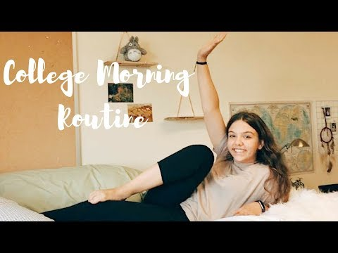 COLLEGE MORNING ROUTINE 2018 // MICHIGAN STATE UNIVERSITY