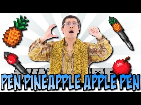 Minecraft PEN PINEAPPLE APPLE PEN MOD [Deutsch]