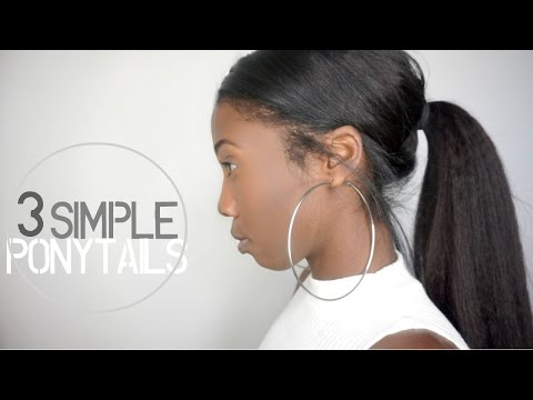 3 Simple & Easy Ponytail Clip-in Hairstyles | Knappy Hair Extensions