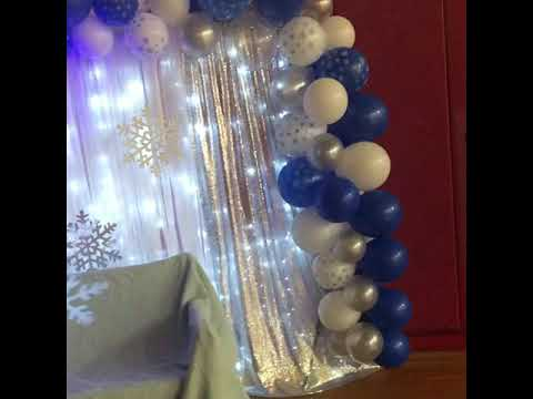 Winter Wonderland Themed Backdrop (With Up-Lighting)