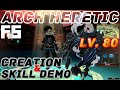 Dragon Nest Korea : Arch Heretic *New Class* Char Creation and Skill Demo.