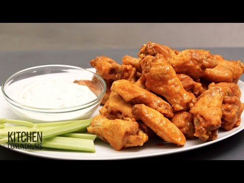 Homestyle Crispy Buffalo Chicken Wings - Kitchen Conundrums with Thomas Joseph