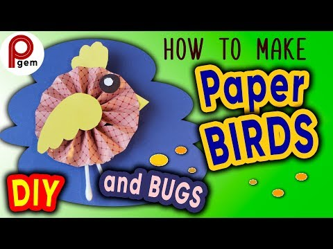 How to make Paper Birds and bugs | DIY