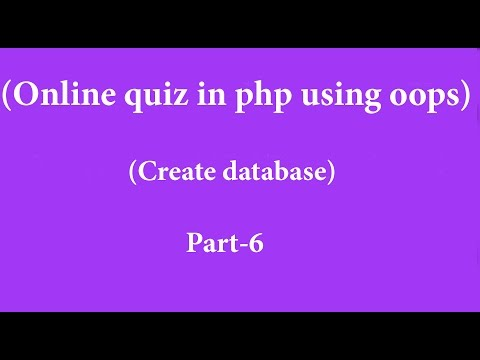 online quiz system in php hindi  part -6 (create databse)