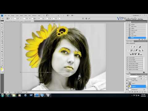 Photoshop CS4 Tutorial: Beauty Flower Girl Makeover + Coloring Black and White Photos