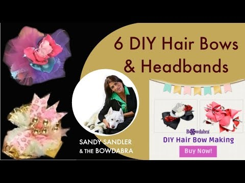6 Easy DIY Hair Bows and Headbands with the Bowdabra