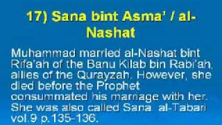 List of Wives of Prophet Muhammad in detail.