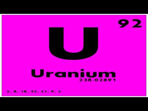 STUDY GUIDE: 92 Uranium | Periodic Table of Elements