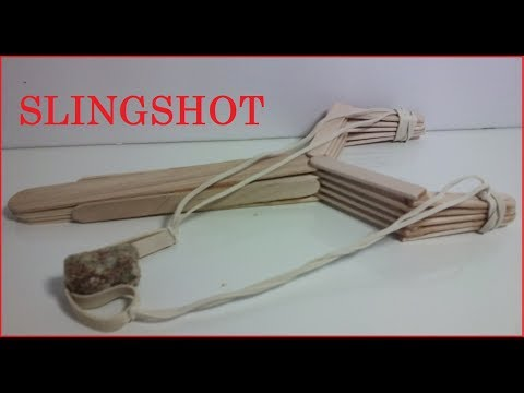 How to make a SLINGSHOT with popsicle sticks
