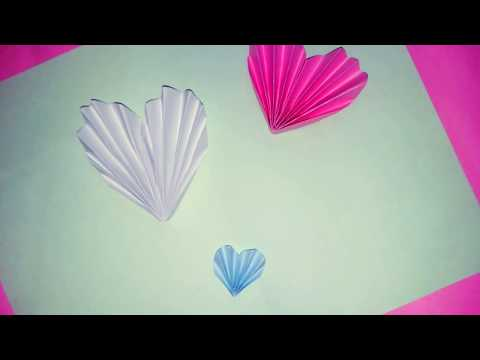 How to make heart from paper-pop up card making using heart!heart shape gift card