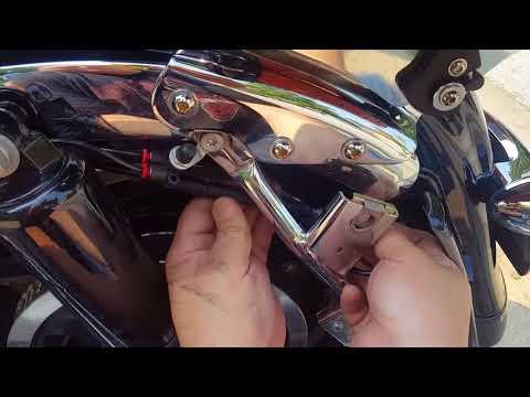 Hiding your Harley stock antenna - adam got a tour pack