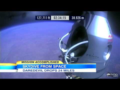 Felix Baumgartner  Supersonic Skydive 'Like Swimming Without Touching the Water'   ABC News