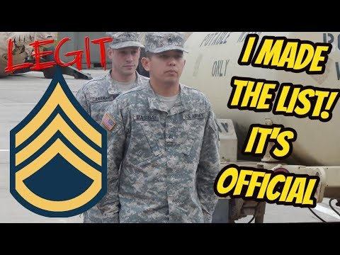 I'M GETTING PROMOTED TO E6 ARMY MEDIC STAFF SERGEANT!!!