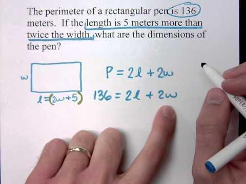 Beginning Algebra - Part 29 (Word Problems - Perimeter)