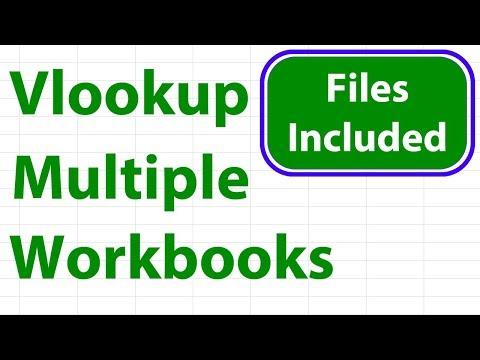 Excel Vlookup Across Multiple Workbooks