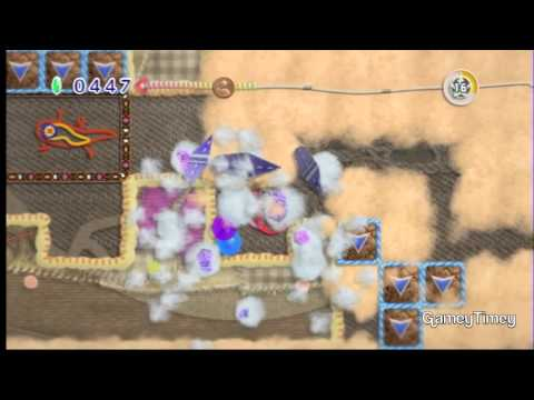 Kirby's Epic Yarn Secret Level Mole Hole 100% Walkthrough
