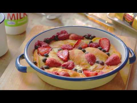 Summer Fruits Bread and Butter Pudding