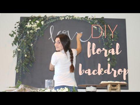 DIY Floral Arch Backdrop | Lindsay Brooke