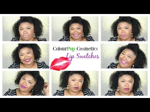 COLOURPOP  Lip Swatches on Brown Skin