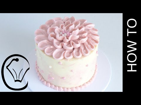 Pink Buttercream Flower Petal Cake by Cupcake Savvy's Kitchen