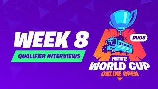 Fortnite World Cup - Week 8 Qualifier Interviews