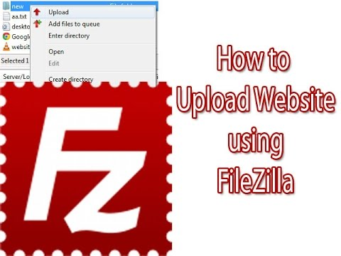How to upload Website on Server using FileZilla (Hindi).