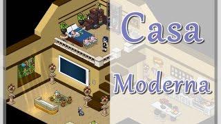 Casa moderna apartamento moderno habbo tutorial for Casas en habbo